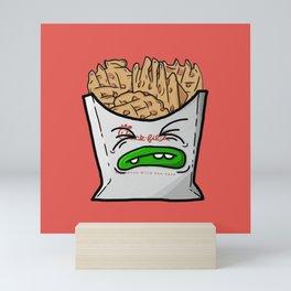 Waffle Fries. not on Sunday Mini Art Print