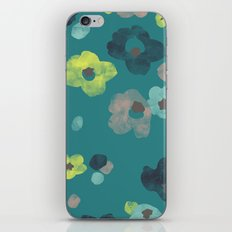 Watercolor Blooms - in Teal iPhone & iPod Skin