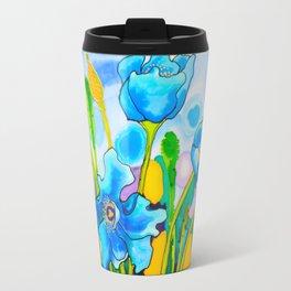 Blue Poppies 1 of Belize Travel Mug