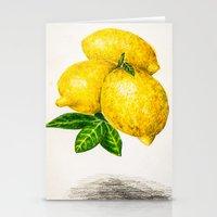 lemon Stationery Cards featuring Lemon by Peiting Tsai