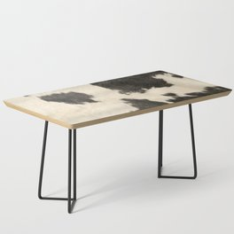 Black & White Cow Hide Coffee Table