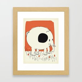Friendly Little Elephant Framed Art Print