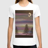 wisconsin T-shirts featuring Nighttime in Wisconsin by Art by Jolene