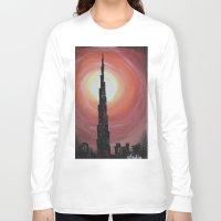 wiz khalifa Long Sleeve T-shirts featuring Burj Khalifa by sladja
