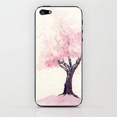Spring in Pink , Cherry Blossm, Art Watercolor Painting by Suisai Genki  iPhone & iPod Skin