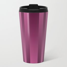 Burgundy , striped Travel Mug