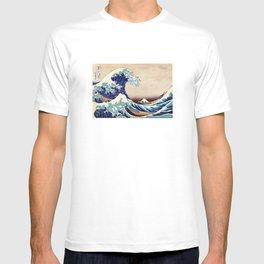 Katsushika Hokusai The Great Wave Off Kanagawa T-shirt