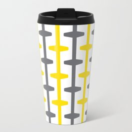 Geometric Pattern #209 (yellow gray) Travel Mug