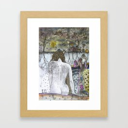 """Autumn""  Illustrated print. Framed Art Print"
