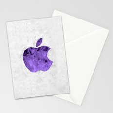 PURPLE Painted Apple Stationery Cards