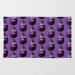 Stressed Out Eggplant Rug