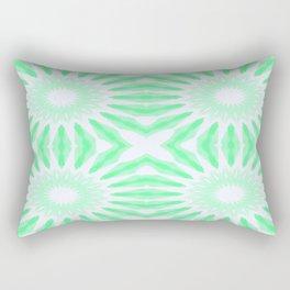 Seafoam Watercolor Pinwheel Flowers Rectangular Pillow