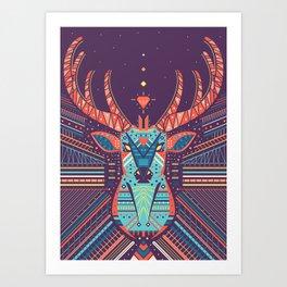 Symmetric Animals. DEER Art Print