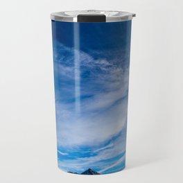 Wispy Clouds Above Crested Butte, Colorado. Travel Mug