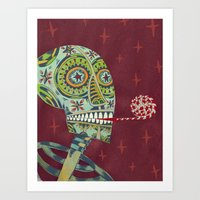 happy birthday Art Prints featuring Happy Birthday by Santiago Uceda