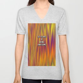 50 years of being awesome Unisex V-Neck