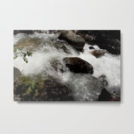 A Place to Contemplate, on Fall Creek Metal Print