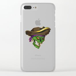 Art of a bloodthirsty pirate Clear iPhone Case