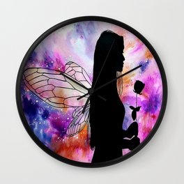 Fairy Wishes Wall Clock