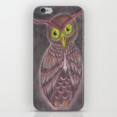 Stylized Owl iPhone & iPod Skin