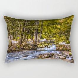 Small old bridge Rectangular Pillow