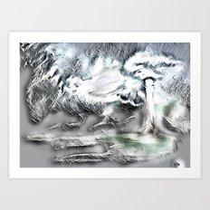 Sliver Edges Art Print