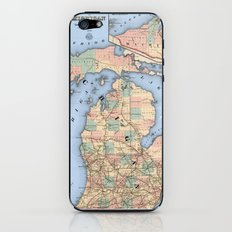 Michigan Railroad Map iPhone & iPod Skin