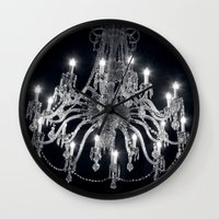 chandelier Wall Clocks featuring Chandelier by Ink and Paint Studio