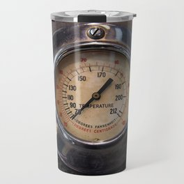 Heat - vintage industrial temperature gauge Travel Mug