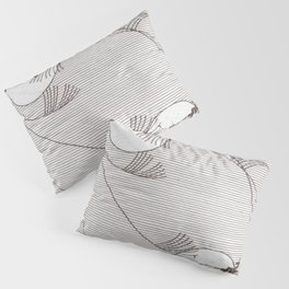 Two Moons Stencil,19th century Japan Pillow Sham