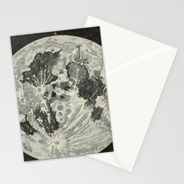 Vintage Moon Map Stationery Cards