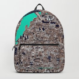 amazing London city map drawing Backpack