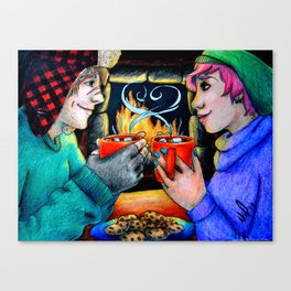 Tonks and Remus - Harry Potter Canvas Print