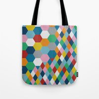 honeycomb Tote Bags featuring Honeycomb by Project M