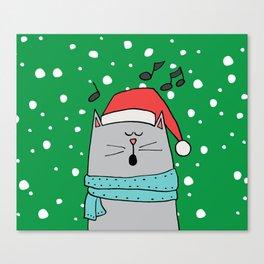 Singing cat Canvas Print