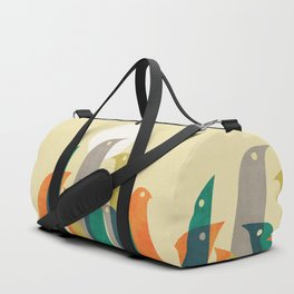 Wild birds at the beach Duffle Bag