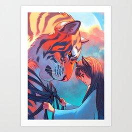 Tangled Tiger Art Print