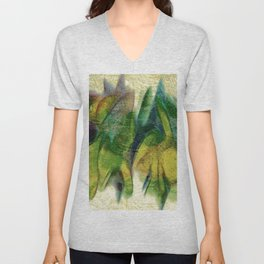 Abstract fall colors Unisex V-Neck
