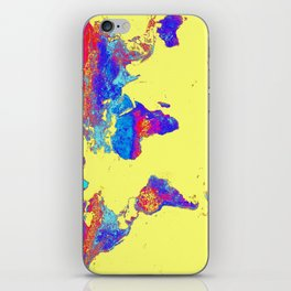 world mAP Colorful iPhone Skin