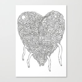 Doodle Heart Canvas Print