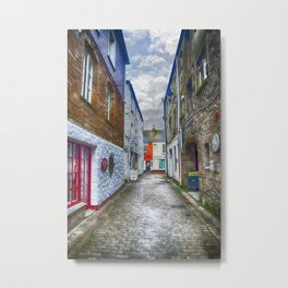 Jetty Street Mevagissey Metal Print
