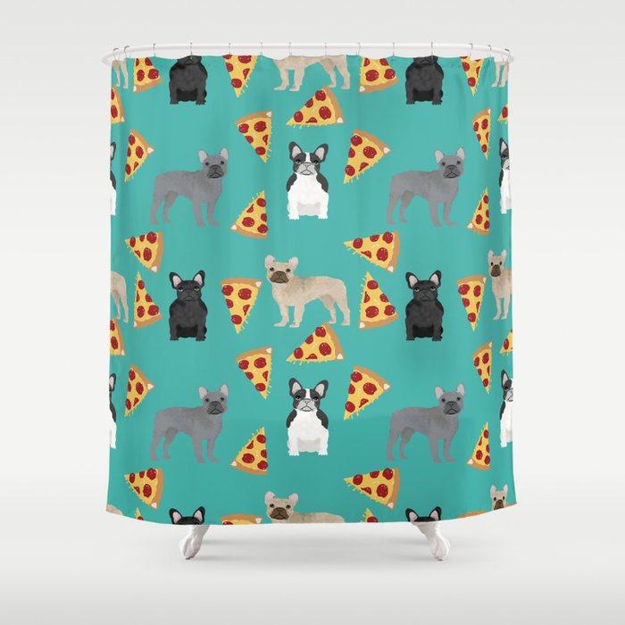 Frenchie Pizza Cute Funny Dog Breed Pet Pattern French Bulldog