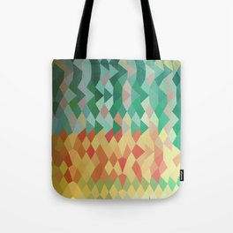 Emerald Green Harlequins Abstract Low Polygon Background Tote Bag