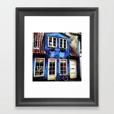 Blue Cycle Framed Art Print