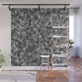 silver berries Wall Mural