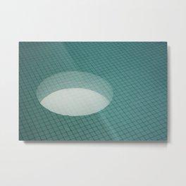 Light Reflection in Tile Pool Metal Print