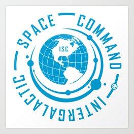Intergalactic Space Command Logo 1 Art Print