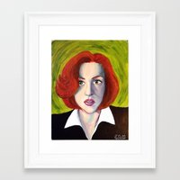 dana scully Framed Art Prints featuring Dana Scully: Xfiles by Cameron Tyme Edison
