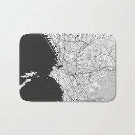 Marseille Map Gray Bath Mat