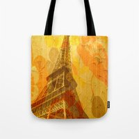 eiffel Tote Bags featuring Eiffel by 3crows